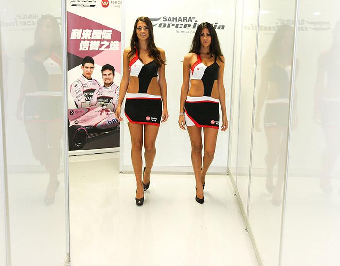 Force India Team Grid Girls At The Italian Grand Prix Bea Models Agency