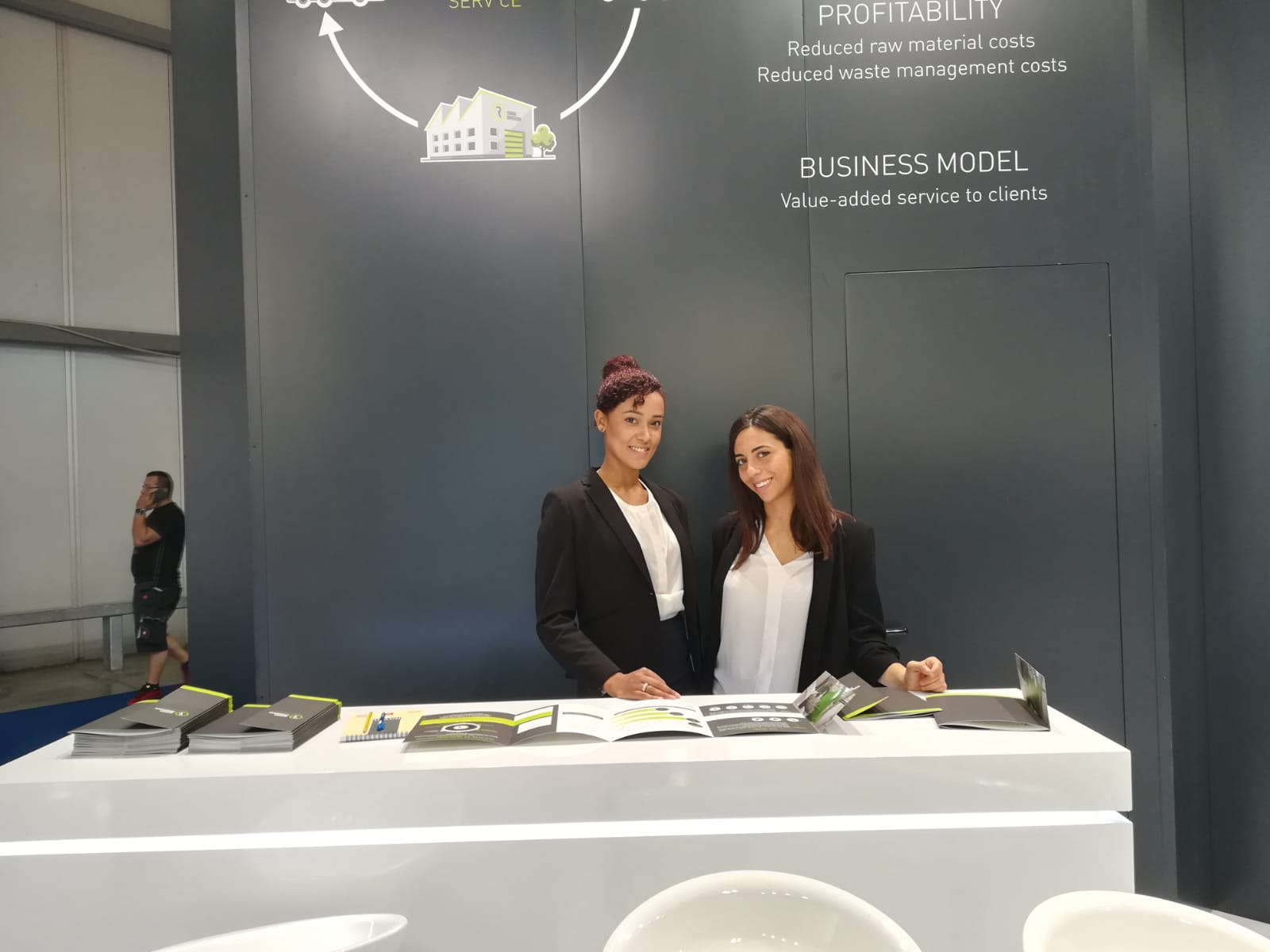 plast trade show hostess