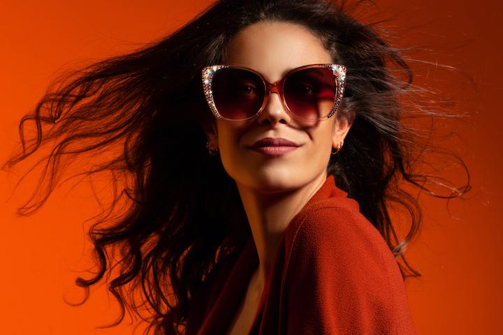 model shooting eyewear milan