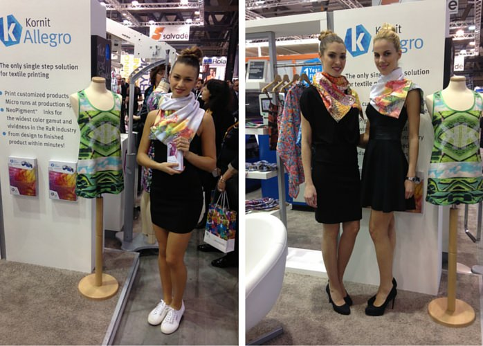 Hostess fiera per Kornit BeA Models