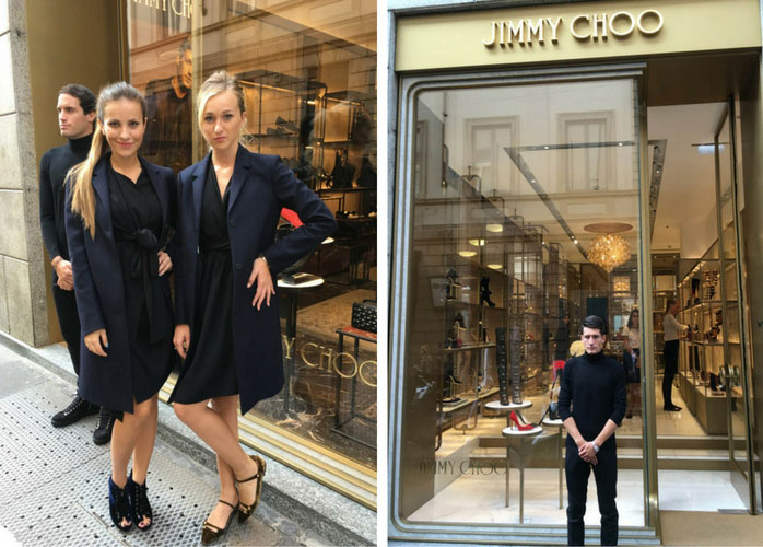 hostess e promoter jimmy choo milano