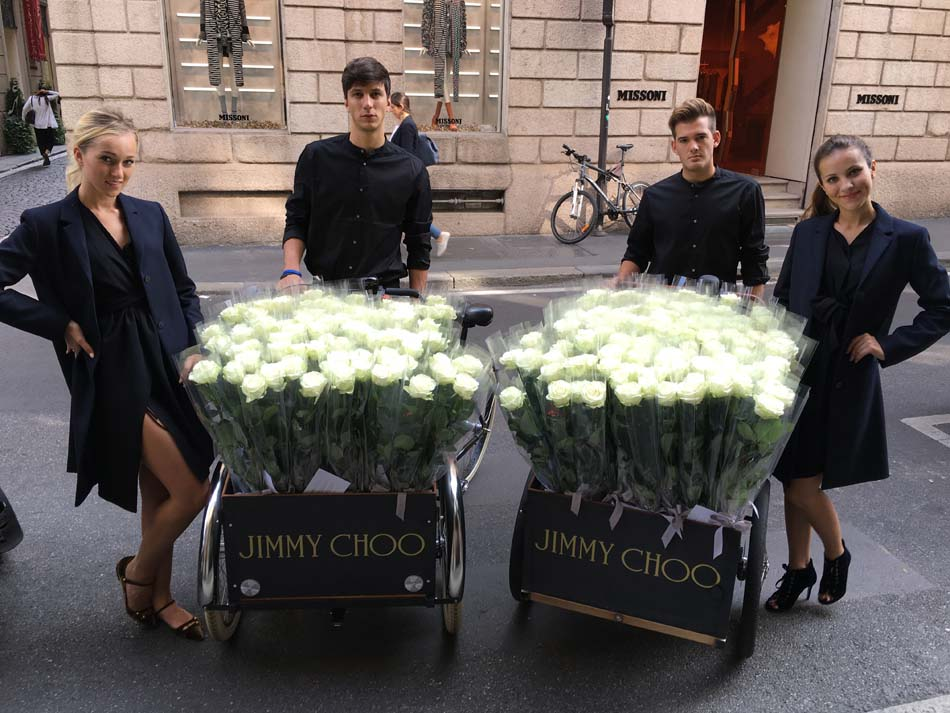 hostess and host jimmy choo milan store