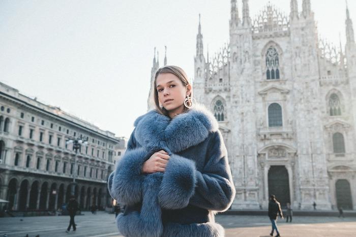 modella shooting milano moda