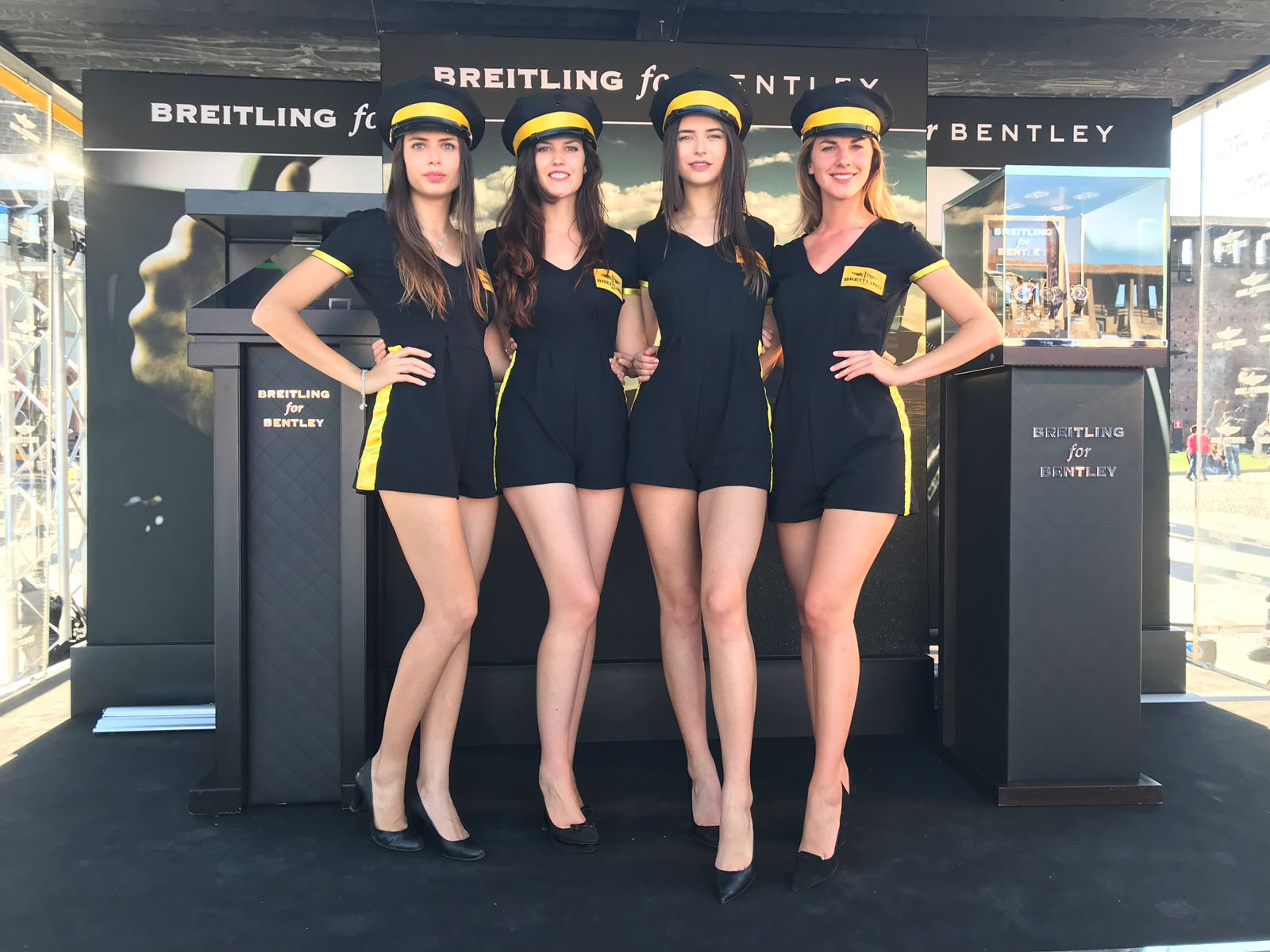 welcoming staff breitling event