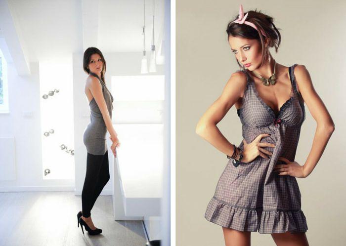 modella per showroom a milano